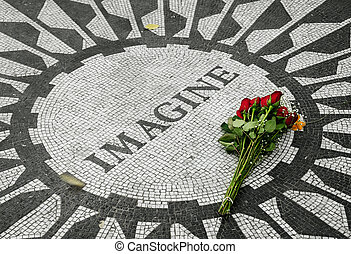 Strawberry Fields, the John Lennon Memorial in Central Park...