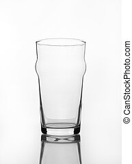empty glass with shadow gray scale