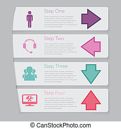 Design number banners template graphic or website layout