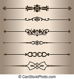 Decorative lines Design elements - dividing lines Vector...