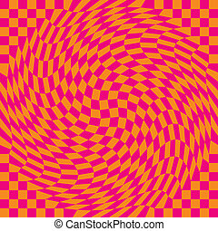 Checkerboard Warp_Pink-Orange