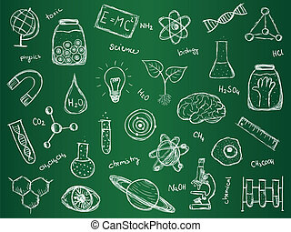 Chemistry Science Background - Illustration of scientific...