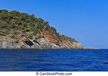 Elba Island - The coast of Elba Island. Tuscany, Italy