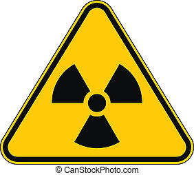 Radiation triangular sign. Vector illustration.