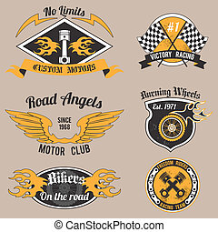 Motorcycle design badges - Motorcycle grunge no limits...