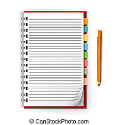 Notepad with reminders and pencil