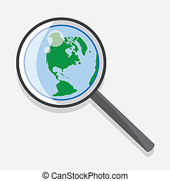 Magnifying Glass Earth