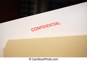 File with confidential documents