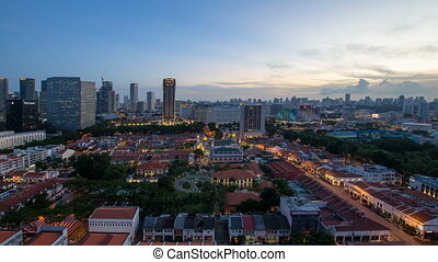 Time lapse sunset in Singapore - Time lapse movie of sunset...