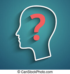 Human head with question mark.