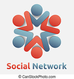Social Network - Social network creative vector icon