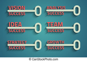 key with business word - Six creative keys with business...