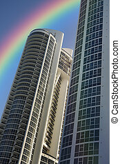South Beach High Rise Condominium - beautiful rainbow and a...