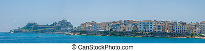 View on the town of Corfu