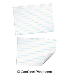 single page torn - Single page of paper with spiral ring...