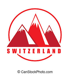 Swiss design over white background, vector illustration