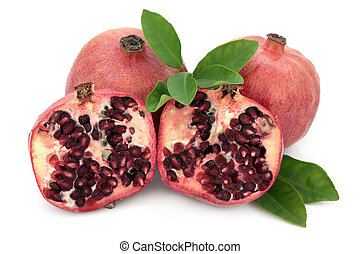 Pomegranate Super Food - Pomegranate fruit super food over...