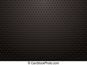 black grill - black metal grill with punched holes abstract...