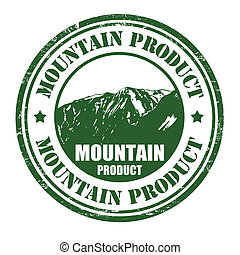Mountain product stamp