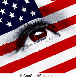 usa flag eye