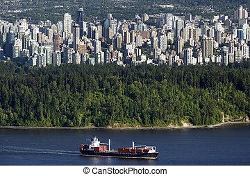 Vancouver BC downtown and Stanley Park photographed June...