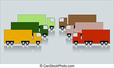 Trucks - Heavy trucks illustration