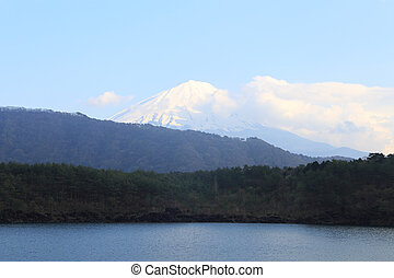 Mount Fuji, view from Lake Saiko, Japan