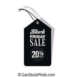 Black Friday - abstract black friday discount on a white...