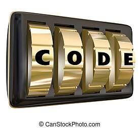 Code Word Lock Dials Secret Classified Informatoin Password...