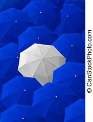Umbrella, leader, unique, boss, individuality, original,...