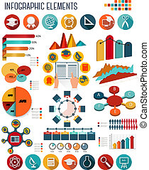 Big set of Education infographics elements. Vector.