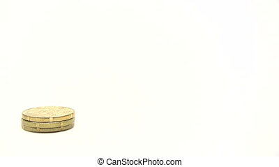 Stacks Of Euro Coins - Canon HV30. HD 16:9 1920 x 1080 @...