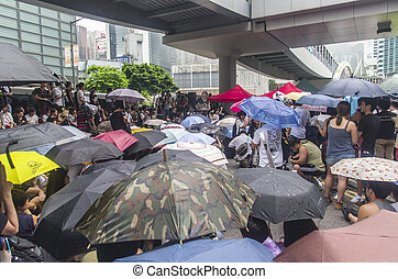 Protesters about Northeast New Territories Hong Kong - HONG...