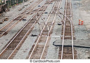 Full Frame of Railroad Tracks