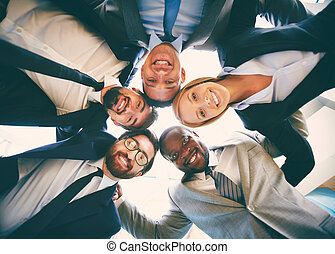 Multi-ethnic business team - Group of friendly...
