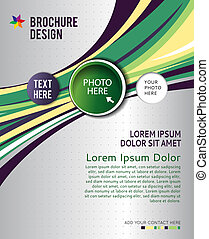 Brochure design content background Design layout template