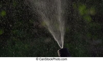 Water for Irrigation - Jet of water under pressure is...