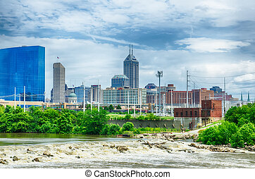 Indianapolis skyline Panoramic image of Indianapolis skyline...