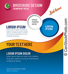 Brochure design content background, illustration - Stylish...