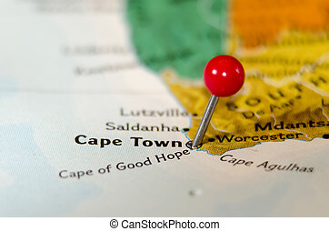 cape town south africa pin othe map