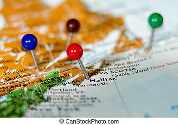 eastern canada cities pins othe map - eastern canada cities...