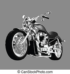 realistic vector painted motorcycle