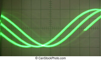 Fluctuations on the Screen - Analog oscilloscope screen with...