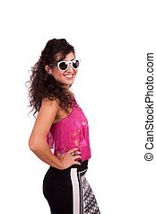 Young woman wearing sunglasses - Attractive young female...