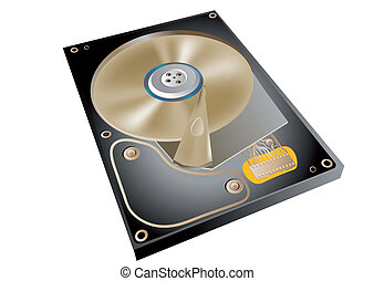 hard drive isolated on a white background