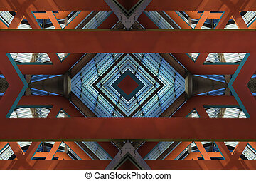Architectural Background - View of corporate business...