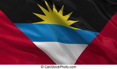 Flag of Antigua and Barbuda loop
