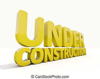 Under construction - Sign under construction isolated on...