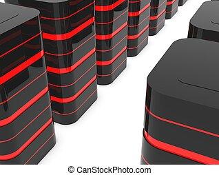 Database server room or data center