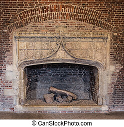 Very large fireplace
